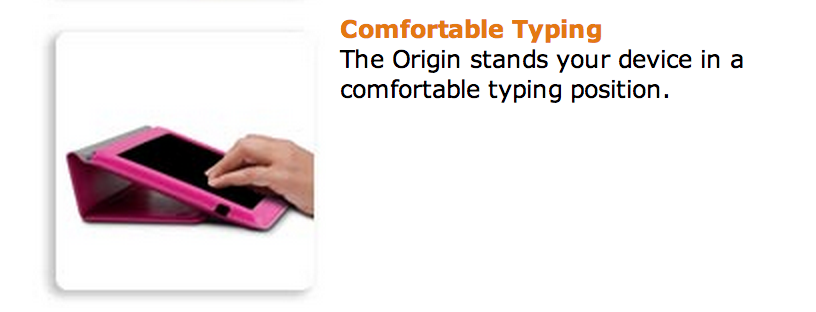MarBlue Ultra Lightweight Origin Case Typing Stand for Kindle Fire HD