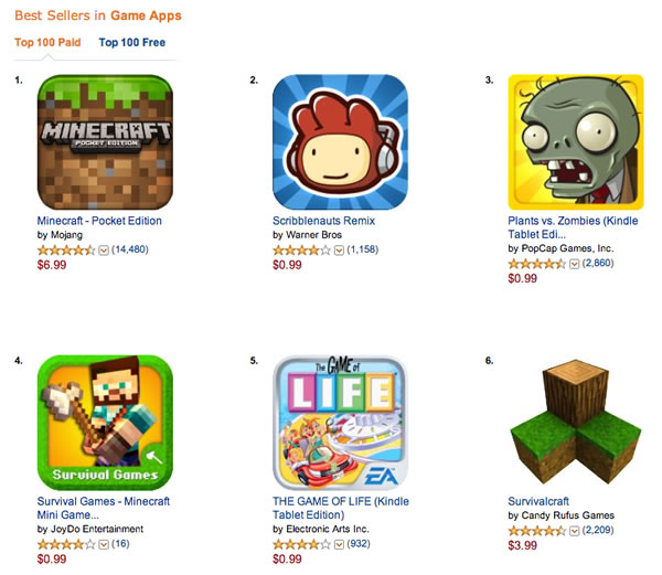 best kindle fire game apps free