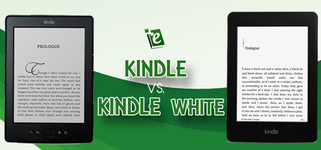 Compare Amazon Kindle versus Kindle Paperwhite - which one is better