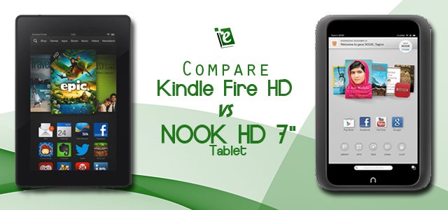 Compare Kindle Fire HD and Nook HD