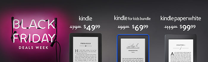 Kindle & Kindle Paperwhite Black Friday