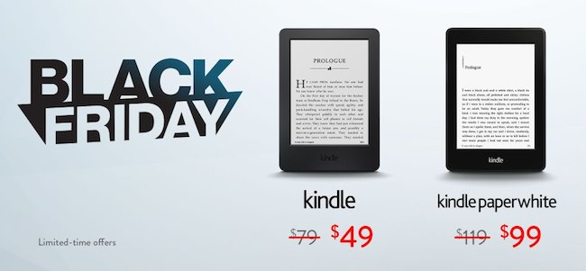 Kindle Paperwhite Black Friday and Cyber Monday 2015