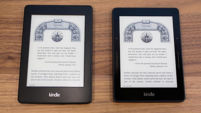 Kindle Voyage Comparing to Paperwhite 2014
